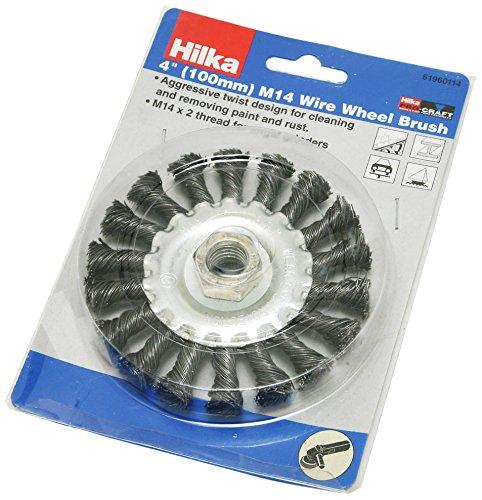 Hilka 51960114 Roue métallique pinceau - 100 mm