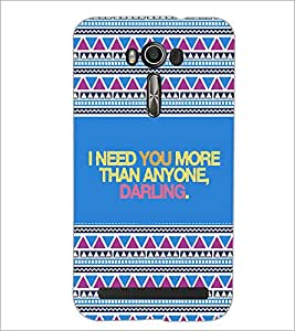 Printdhaba Quote D-4668 Back Case Cover For Asus Zenfone 2 Laser Ze550Kl