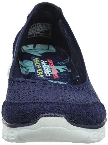 Skechers Ladies Ez Flex 3.0-beautify Chiuso Ballerine Blu (blu Scuro)