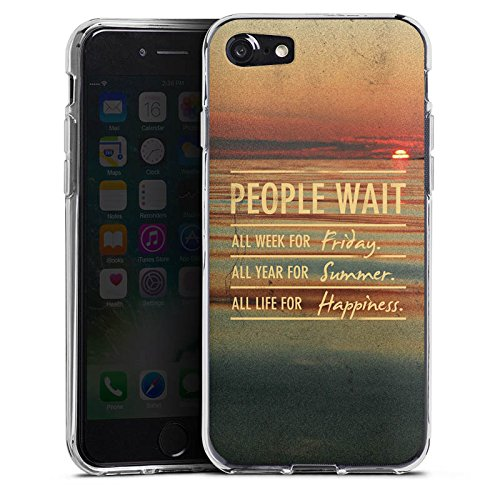 Apple iPhone X Silikon Hülle Case Schutzhülle Sprüche Sommer Glücklich Silikon Case transparent