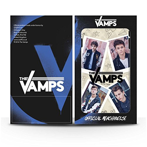 Offiziell The Vamps Hülle / Glanz Harten Stoßfest Case für Apple iPhone 6S / Pack 5Pcs Muster / The Vamps Doodle Buch Kollektion Mappe