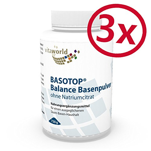 3er Pack Vita World Basotop Balance Basenpulver natriumfrei 2250g Apotheken Herstellung