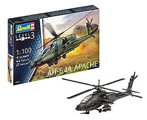 Revell Revell-AH-64A Maqueta Helicóptero AH-64A Apache, Kit Modello, Escala 1:100 (4985) (04985), 14,6 cm de Largo (RG4985)