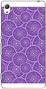 The Racoon Grip printed designer hard back mobile phone case cover for Sony Xperia Z3 Plus. (Lilac Citr)