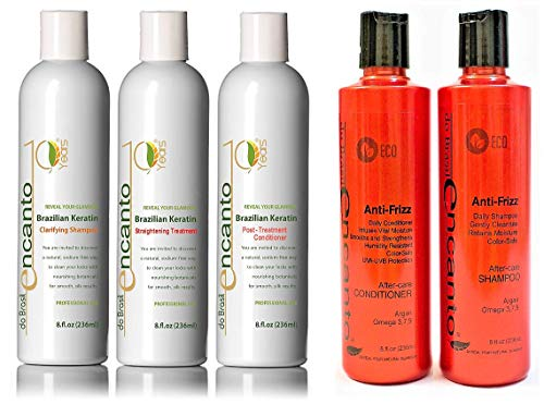 Encanto Keratin Treatment Kit + Shampoo und Conditioner After-Care Anti-Frizz 236 ml -