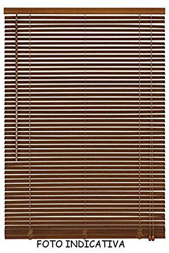 Vetrineinrete tende veneziane in pvc veneziana finestra tenda marrone bianco beige chiaro o scuro effetto legno varie misure (marrone, 60 x 160) e32
