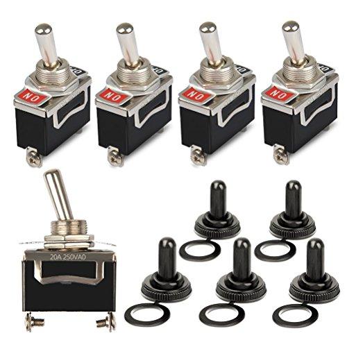 OFNMY 5pcs Interruptor Basculante KN3-101 Metal Tapa