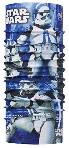 BUFF® SET - JUNIOR ORIGINAL LICENSES Star Wars + UP® Panno tubolare | Bambini | Unisex | Balaclava | Sciarpa | Foulard | Fazzoletto collo, alle Buff Designs 2016:321. CLONE BLUE
