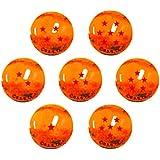 Canicas Dragonball Z, 7 bolas de cristal 22mm con estrellas