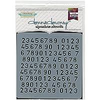 "Donna Downey Signature Stencils 8.5""X8.5""-Mini Number Repeat"