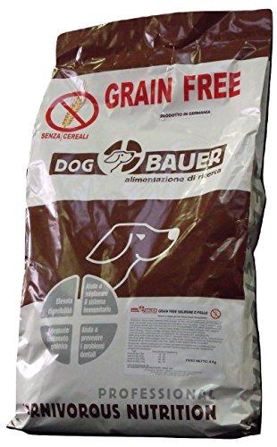DOG BAUER alimentazione di ricerca Crocchette per Cani al Salmone e Pollo Senza Cereali