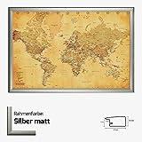 Kunstdruck Poster - Vintage World Map Weltkarte 61 x 91,50