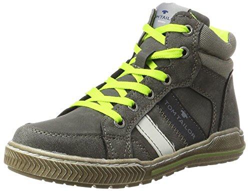 TOM TAILOR Jungen 3770404 Hohe Sneaker, Grau (Coal-Lime), 39 EU