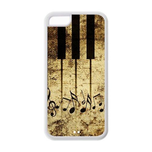 iPhone 5C coque de protection en TPU pour, Customize Piano Case for iPhone 5C [Piano]