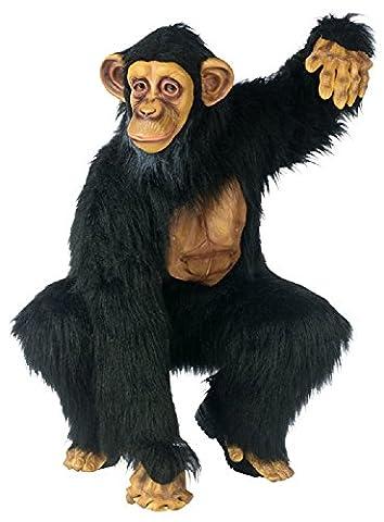 Gorilla Costumes Masque - Deluxe pour homme Singe Singe garçon Motif