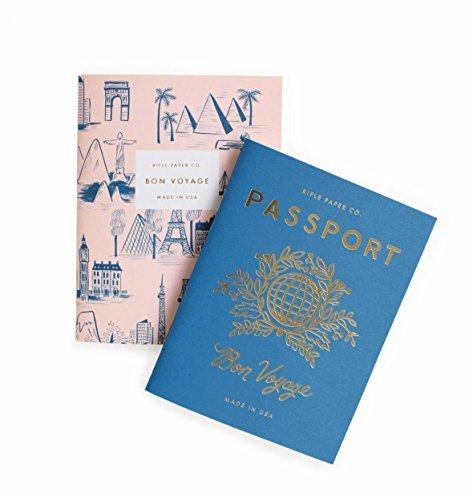 Gewehr Papier Passport/Bon Voyage Passport Pocket Größe Tagebuch Notebooks, Set von 2Notebooks -