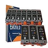 10 komp Druckerpatronen Canon Pixma ip100W ip100 ip110 ip100WP mini260 (7 x Schwarz - 3 x Color mit chip)
