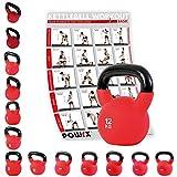 POWRX Kettlebell 4-30 kg | Kugelhantel Neopren (12 kg)