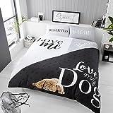 3d animal amor mi perro edredón/edredón con funda de almohada de doble funda de edredón King, Doublé