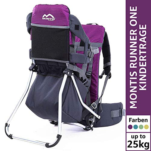 MONTIS Runner One - Mochila portabebés - hasta 25 kg (Violeta)