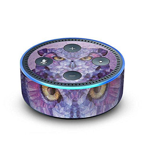 amazon Echo Dot 2.Generation Folie Skin Sticker aus Vinyl-Folie Eule Owl Lila