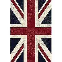 Royal Palace bandiera inglese union jack 135x195cm Tappeto in viscosa di seta, motivo:
