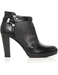 19220 VERDEGRIS Scarpa donna Nero Gairdini sneakers logo laterale made in Italy 79otdo