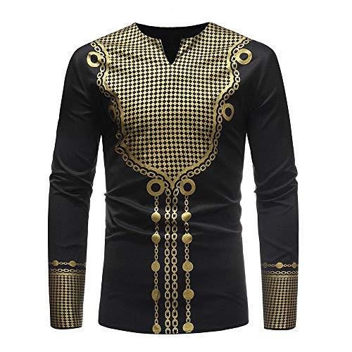 NINGSANJIN Trachtenhemden für Herren Kariertes Langarmhemd mit Krempelarm - Fitted Herren-Hemd,Hemd,Trachten-Hemd (Schwarz,3XL)