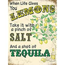 Lemons and Tequila Cartel de Chapa Placa metal Estable plano Nuevo 15x20cm VS5555-1