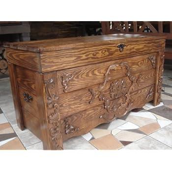 sale retailer ec22a 2e6e2 Decocraft Wooden Blanket Box Coffee Table Trunk Vintage Chest Wooden  Ottoman Box (JUL3)