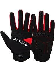 LianLe-La tecnología ciclismo guantes de culotte Ciclismo guantes Dedo Completo Pantalla táctil ,color rojo/azul/verdor,L/XL