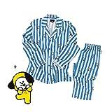 GFEIW BT21 Pajamas für Frauen, BTS Bangtan Boys Sleepwear CHIMMY Cooky KOYA MANG RJ SHOOKY TATA Same Harajuku Long Slee