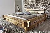 Main Möbel Balkenbett Daniel mit Schubkasten 200x200cm