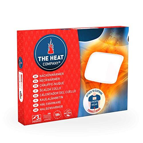 THE HEAT COMPANY Calentador del Cuello | EXTRA CÁLIDO | adhesivo | 18 horas de calor | calor instantáneo | aire activado | 100% natural | 3 piezas