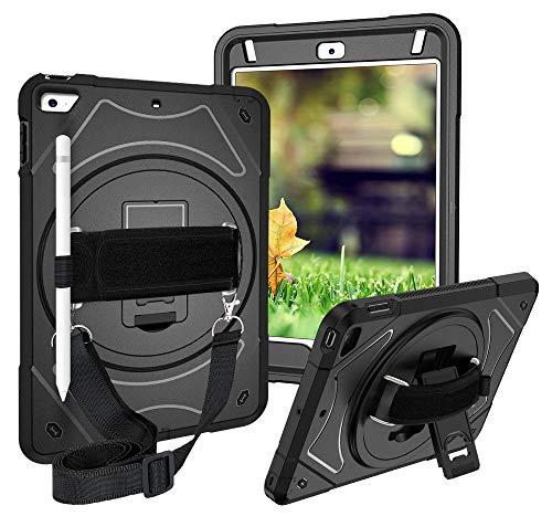 Miesherk iPad Mini 5 2019 / iPad Mini 4 Hülle 360 Kickstand Verstellbarer Griff und Halsgurt Handschlaufe Schultergurt Tasche mit Stifthalter Stoßfest Schutzhülle für iPad Mini 4/5 7.9