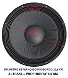 Altoparlante subwoofer woofer ricambio casse acustiche diametro 20 21 cm 4 8 Ohm 8' pollici 200w sospensione rigida 200mm (4 Ohm)