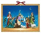 Coppenrath sur réveillon de Noël Nativité religieux énorme traditionnel allemand Calendrier de l'Avent 52cm de large x 38cm