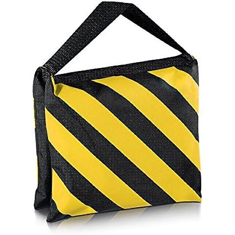 Neewer® Negro/Amarillo Resistente Bolsa de Arena Saco de Arena Fotográfica de Estudio Vídeo para Luces, Jirafas,