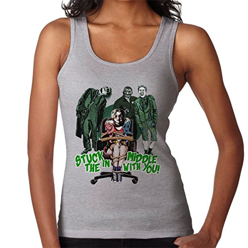 Suicide Squad Harley Quinn Stuck In The Middle Women's Vest Heather Grey