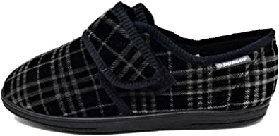 Dunlop DMH7159A Men's Black Slippers Size