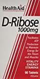 Health Aid 1000 mg D-Ribose Tablets, 220 g