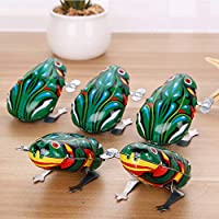 Gemini_mall Wind Up Toys, Kids Wind Up Jumping Frog Clockwork Toy Baby Educational Toy for Boys and Girls Xmas Birthday Gifts Stocking Fillers Party Bag Fillers