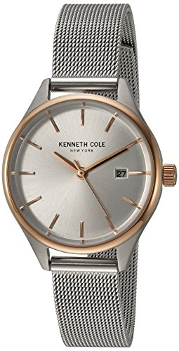 Kenneth Cole New York Women's 'Classic' Quartz Stainless Steel Dress Watch, Color:Silver-Toned (Model: 10030840)