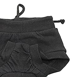 ELECTROPRIME New Soft Pet Dog Puppy Physiological Sanitary Pant Panty Underwear Black XL
