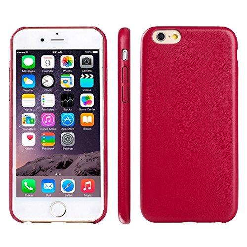 Phone case & Hülle Für IPhone 6 Plus / 6S Plus, Ultra-dünne schützende Leder zurück Fall Fall ( Color : Black ) Magenta