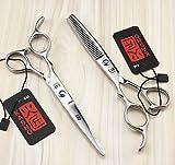 Friseur-Haarscheren6.0 Left-Hand Schnitt Straight Cut Straight Zähne geschnitten dünne Schere Linkshänder Schere , C