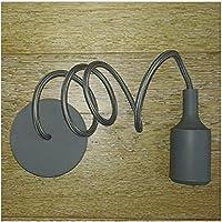 Filotto Lampada sospensione moderna - Portalampada E27 - Design silicone colorato (Grigio)