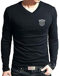 T Shirt - Autobot Logo Printed Cotton T Shirt - Transformers T Shirt - Black Cotton T Shirt