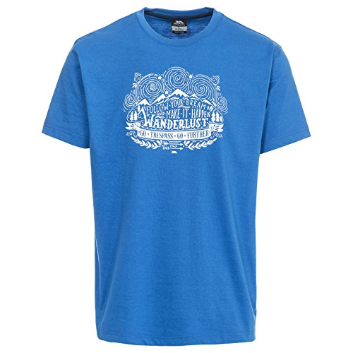 Trespass Herren Hainey T-Shirt mit Aufdruck Bright Blue