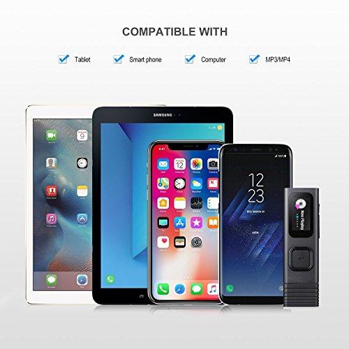 qibang2 Auricolare Bluetooth con 2 microfoni integrati ad Alta fedeltà e Custodia di Ricarica per Una Lunga Durata della Batteria. Compatibile con Tutti i dispositivi mobili e Bluetooth - 7